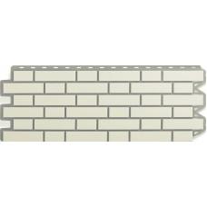 Фасадная панель Альта - Профиль Кирпич - Клинкерный Белый  0,536 м²