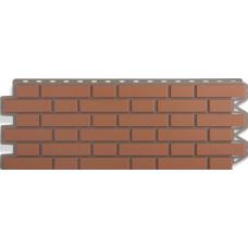 Фасадная панель Альта - Профиль Кирпич - Клинкерный Красный  0,536 м²