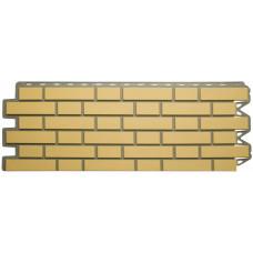Фасадная панель Альта - Профиль Кирпич - Клинкерный Желтый  0,536 м²