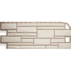 Фасадная панель Альта - Камень белый 0,46 м²