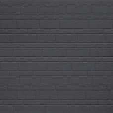 Термопанель металлическая Costune, декоративный кирпич, тёмно-серый