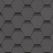 Гибкая черепица Docke Standard Сота Серый (3м²)