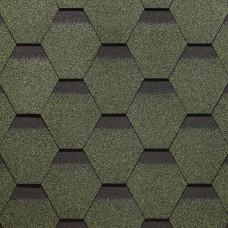 Гибкая черепица Docke Standard Сота Зеленый (3м²)
