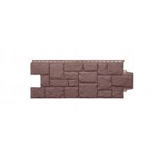 Фасадная панель Grand Line крупный камень коричневый 0,376 м²
