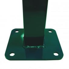 Фланец прямоугольный приваренный с полимерным покрытием 62 х 55 мм