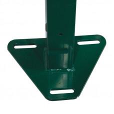 Фланец треугольный приваренный с полимерным покрытием 62 х 55 мм