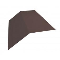 Конёк плоский для металлочерепицы 190х190мм