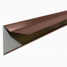 Планка торцевая для мягкой черепицы Шинглас 120х20х100мм (2м)